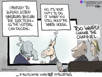 Political Cartoon U.S. Democrats GOP Ginsburg SCOTUS