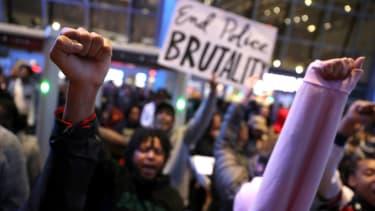 Police brutality protest.