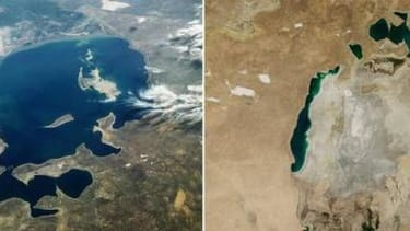 NASA finds that Earth's fourth-largest lake is almost completely dry