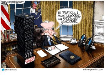 Political Cartoon U.S. biden bipartisanship executive orders