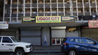 A closed liquor store in Johannesburg.