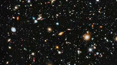 Hubble's colorful new image of the universe captures near-ultraviolet light