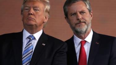 Trump and Jerry Falwell Jr.