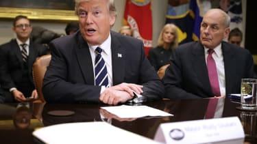Donald Trump and John Kelly.