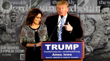 Sarah Palin and President Trump.
