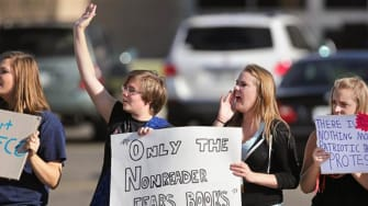 Colorado students protest changes to history curriculum that promotes patriotism
