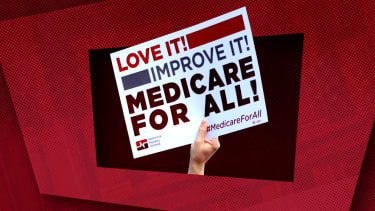 A Medicare for All sign.