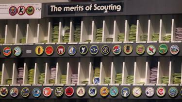 Boy Scouts badges.
