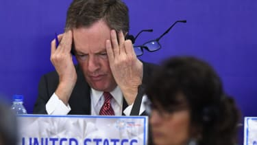 U.S. Trade Representative Robert Lighthizer, frustrated in Hanoi