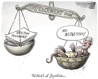 Political Cartoon U.S. Trump impeachment McConnell