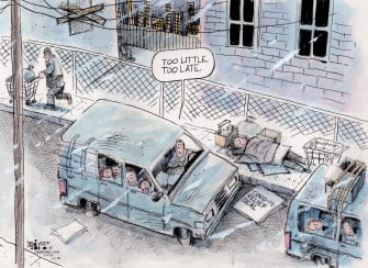 Political Cartoon U.S. Coronavirus Relief Bill Too Late