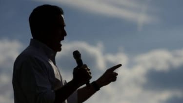 GOP presidential candidate Mitt Romney holds a rally in Cornwall, Pa., on June 16: Romney may be playing it safe by keeping mum on the specifics of his policies, but Americans may grow impati