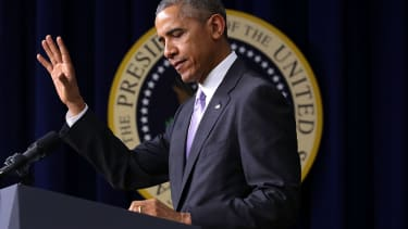 President Obama delivers a speech in Washington