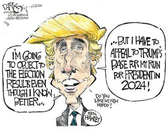 Political Cartoon U.S. Josh Hawley Trump election