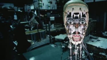 A mechanical reproduction of a human face capable of expressing human emotions: People's faith in technology as a promise of immortality verges on evangelical, says Robert Geraci in Religion