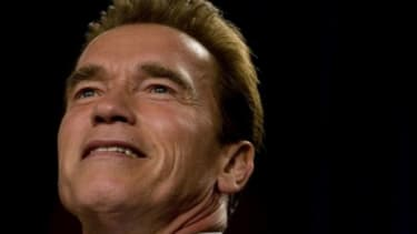 No longer Governor, Arnold Schwarzenegger is ready for his close-up... again.