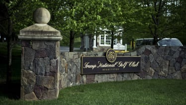 The entrance to Trump National Golf Club in Bedminster.