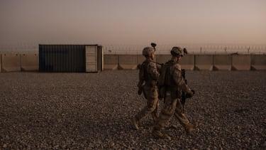 U.S. Marines in Camp Shorab, Afghanistan.