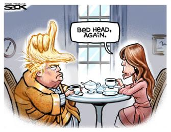 Political Cartoon U.S. Trump Melania election loss