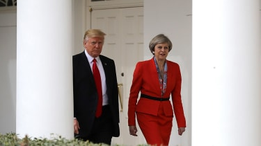 President Trump and Prime Minister Theresa May.