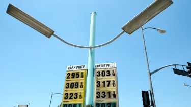 A gas price sign.