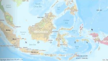 Interactive language map.