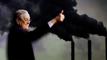 David Koch and smokestacks.