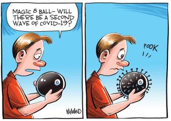Editorial Cartoon U.S. coronavirus second wave