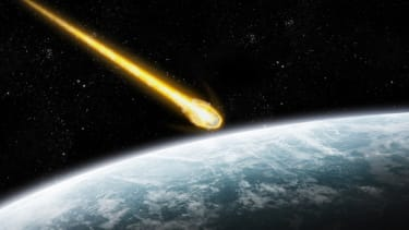 A simulation of an asteroid nearing Earth
