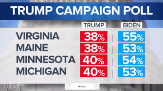 Trump internal poll results
