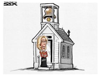 Editorial Cartoon U.S. Betsy DeVos coronavirus