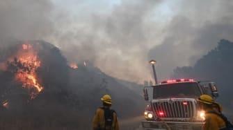 Firefighters in Yorba Linda, California.
