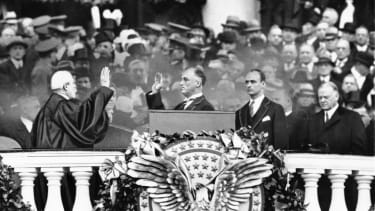 FDR's first inauguration, 1933.