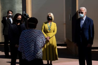 Cindy McCain and President Biden