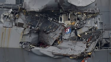 Damage to the USS Fitzgerald.