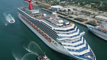 A Carnival cruise ship.