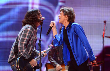 Dave Grohl and Mick Jagger.