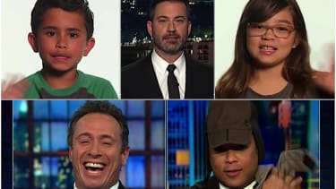 Jimmy Kimmel, 2 kids, and CNN's Chris Cuomo and Don Lemon on Trump versus climate change