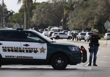 A law enforcement investigation in Sunrise Florida.
