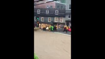 Flooding in Ellicott City, Maryland.