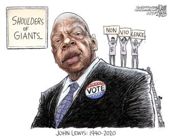 Editorial Cartoon U.S. John Lewis RIP