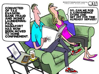 Editorial Cartoon U.S. paul manafort quarantine