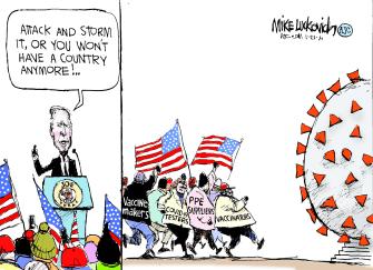 Political Cartoon U.S. biden covid