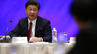 Chinese President Xi Jinping in Seattle.