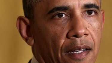 President Obama delivers a statement on the IRS scandal on Wednesday.