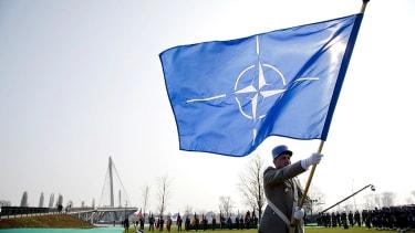 President Trump flip-flops on NATO.