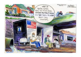 Editorial Cartoon U.S. covid dr seuss boil water texas