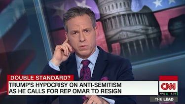 Jake Tapper rolls the tape of Trump and anti-Semitism