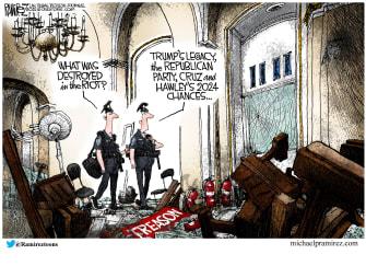 Political Cartoon U.S. Trump GOP Capitol riot