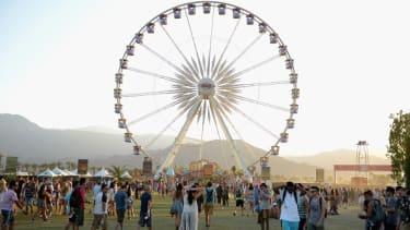 A ferris wheel at Coachella.